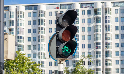 A traffic signal.